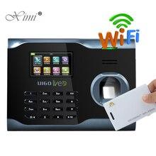 U160 Фингерпринта с отпечатков пальцев 125 кГц RFID считыватель карт WI-FI TCP/IP считыватель отпечатков пальцев время часы биометрический время Регистраторы