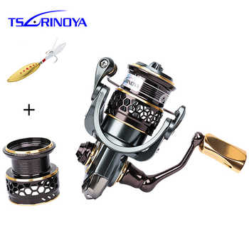 TSURINOYA Jaguar 1000 2000 9+1BB Fishing Reel Spinning Carp Squid Saltwater Metal Handle 2 Spool Reels Coil Spinning Reel Pesca - Category 🛒 Sports & Entertainment
