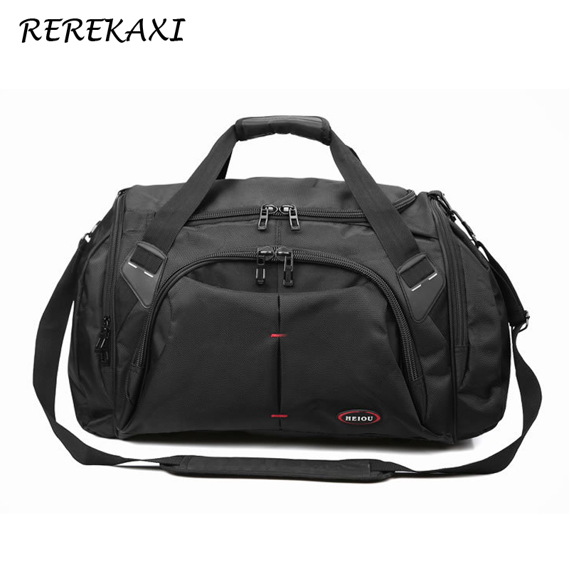 Waterproof Polyester Travel Bag Large Capacity Men Hand Luggage Travel Duffle Women  Multifunctional Shoulder Travel Bags