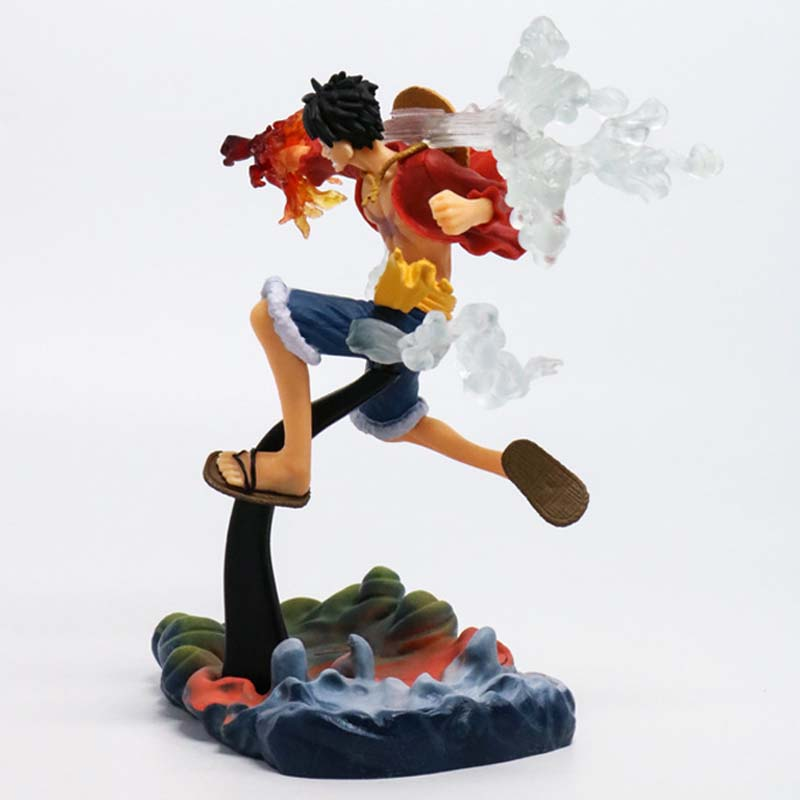 Free Shipping 7 One Piece Anime Monkey D Luffy Gear 2 Fire Fist Ver. Boxed 18cm PVC Action Figure Model Doll Toys Gift