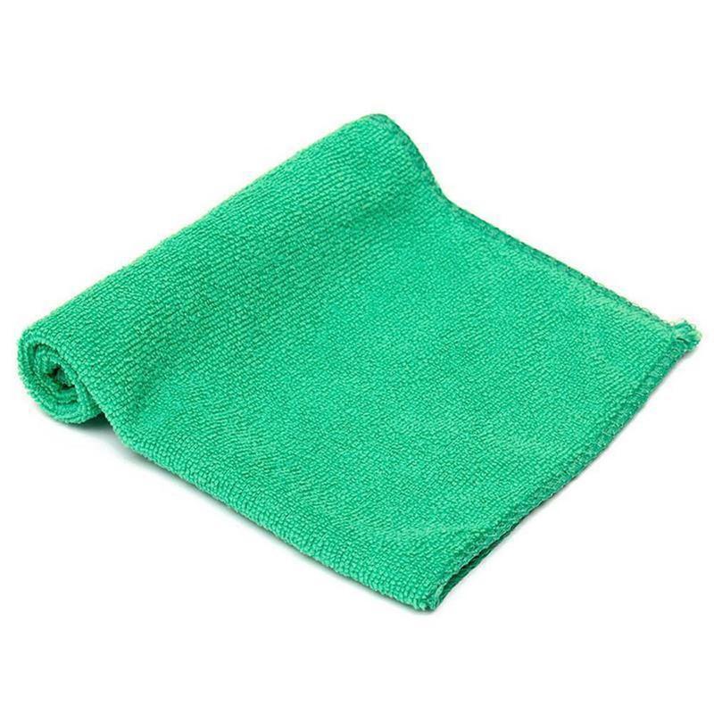 Green Microfiber Towel: ANCRV Green Microfiber Towel Hand Towel Cleaning Auto Car