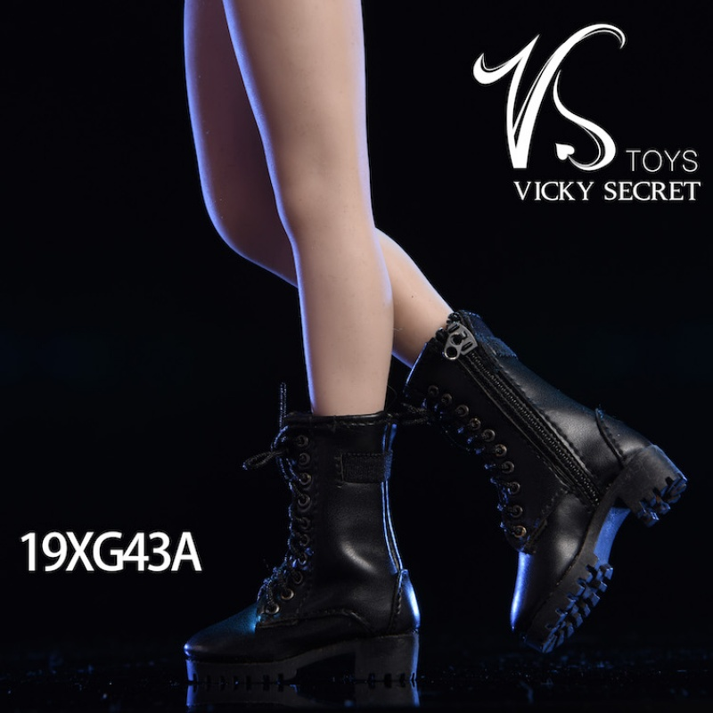 Image 4 - 3 Color 1/6 Scale Female Zipper Boots Hollow Shoes for 12 Inches Action FiguresAction & Toy Figures   -