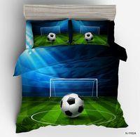 Penguin 3D Football Field Bedding Set 2 3pcs Twin Full Queen Size Bed Duvet Cover Set