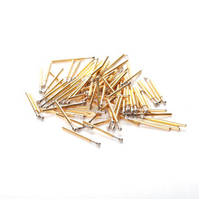 100pcs Springs Test Probe For Electronic Tools  P75-D 16.5mm Diameter 1.02mm Brass Nickel Plated Pressure instrument