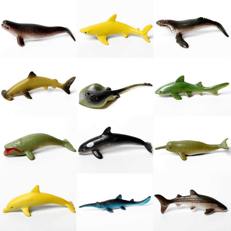 Berbagai Macam Mini Vinyl Plastik Laut Aksi Figur Hewan Set Realistis Di Bawah Laut Hidup Peraga Mainan Pendidikan untuk anak-anak