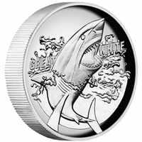 2015 Australiano Grande Squalo Bianco 1 oz Moneta D'argento Proof Altorilievo 50 pz/lotto DHL LIBERA il trasporto