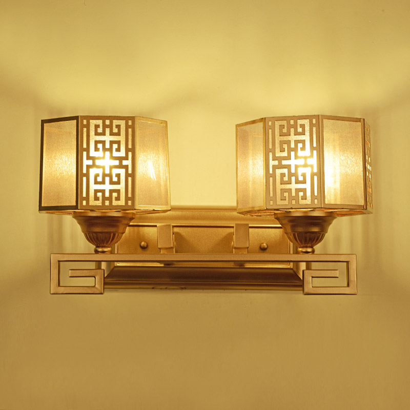 new Chinese style Hotel Chinese bedside decorative retro living room wrought iron corridor wall lamp LO845