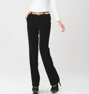 7094d6b7 Summer Straight Formal Slim Trousers Plus Size Women Pants