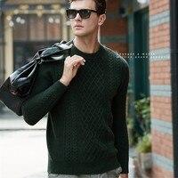 Новое поступление мужской однотонный кашемировый свитер Модный молодежный свитер мужской твист кашемировый свитер