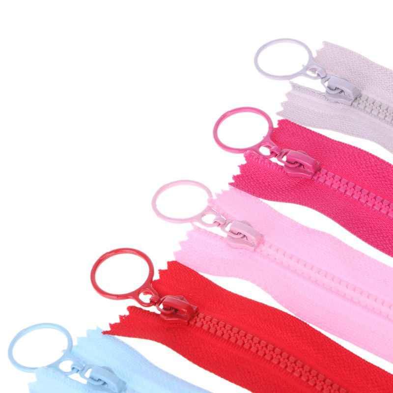 25 cm 3 # Fechado Zíperes Resina Cabeça Anel de Puxar para o Saco De Costura Carteira de Vestuário