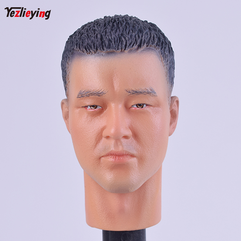 DID02 - Caucasian Head Carving Sculpt (Close Mouth) #1 - 1/6 Scale - DID Action Figures Fit 12 Inch Phicen HT TTL Doll Toys