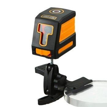 Laser Mini Laser Niveau 2 Lijnen Rode Laser Niveau Twee Type Verticale en Horizontale Lasers Zelfnivellerende ABS Met /zonder Beugel
