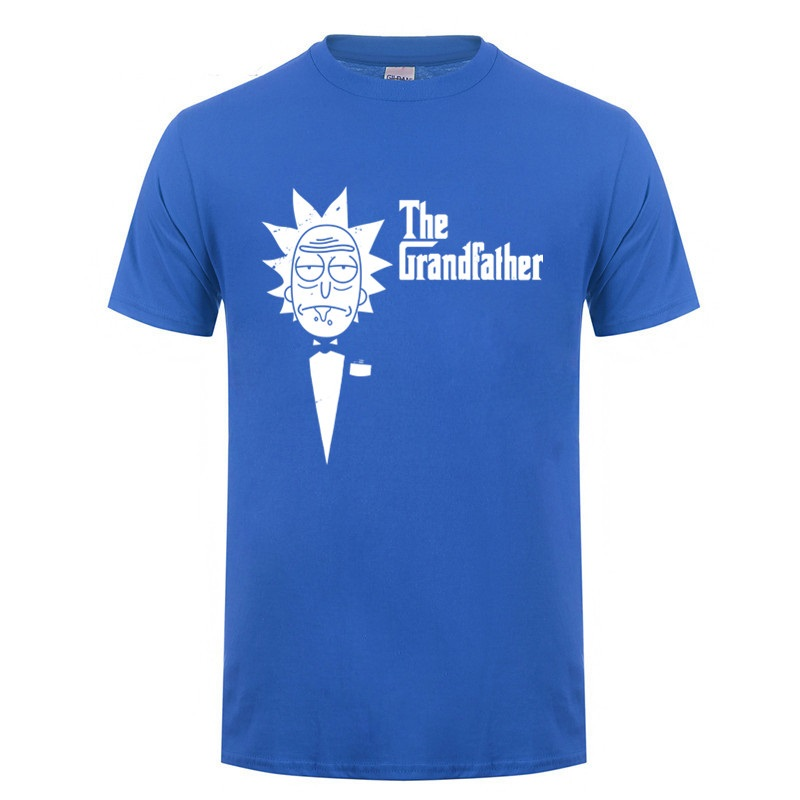 The Grandfather Rick And Morty T Shirts Men Birthday Presents For Grandad Fathers Day Gifts Idea For Dad Funny Spoof T-Shirt