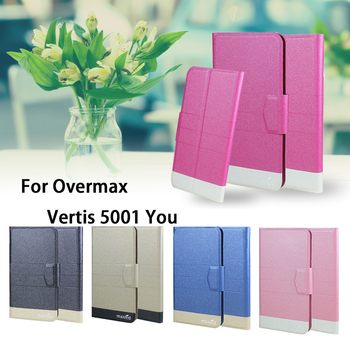 5 Colors Hot! Overmax Vertis 5001 You Case Phone Leather Cover,Factory Direct Luxury Flip Stand Leather Phone Cases Wallet Bags image