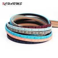 5 MM piatto cavo di cuoio corda/Fiori Stampe/accessori ricambi/risultati dei monili/fatto a mano/gioielli making/braccialetto materiale