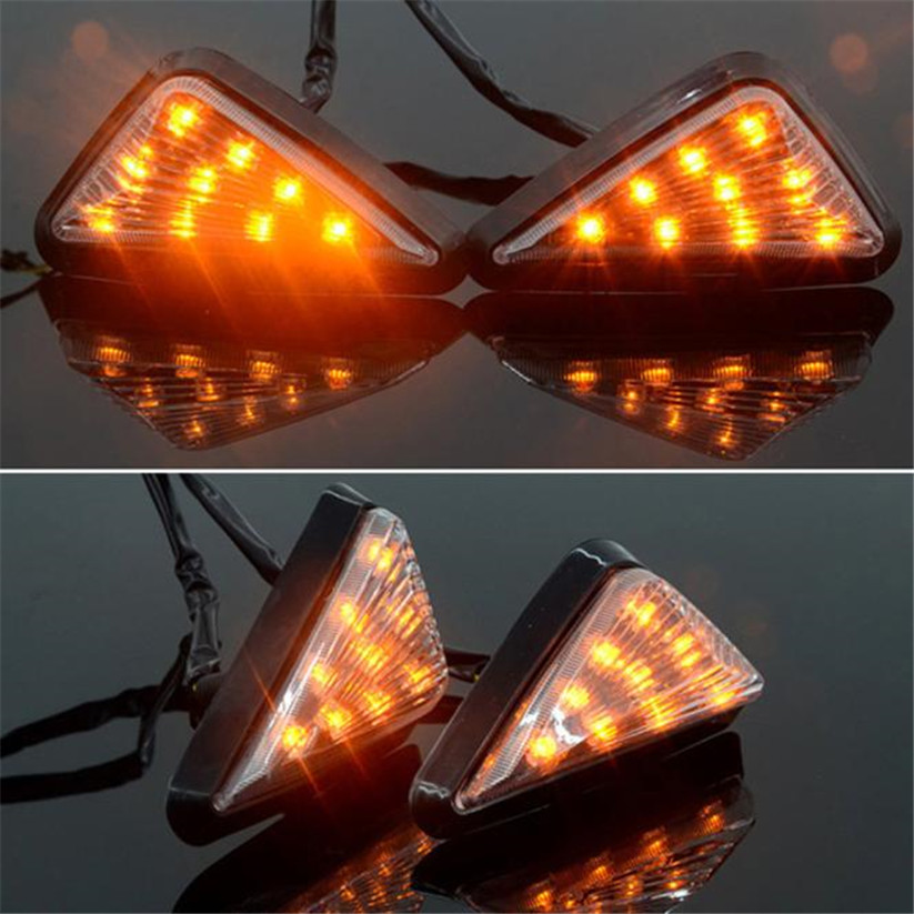Car-styling KAKUDER Motorcycle LED Flush Mount Turn Signals Blinker Light td0409 dropship