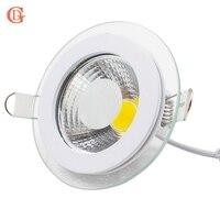 GD 4 stücke 7 watt 10 watt LED Einbau-downlight Dimmbare 12 watt 15 watt 20 watt 30 watt Spot LED COB Downlights AC85-265V LED Spot Mit Glas Abdeckung
