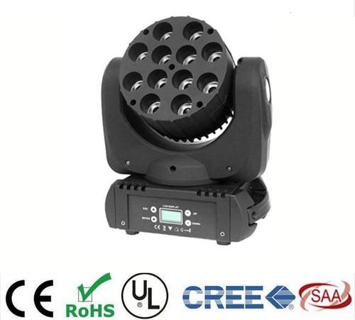 LED beam moving head light CREE 12x12w rgbw 4in1 /36x3W RGB advanced 9/16 dmx channels for dj disco parties show lights