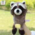 Infant Children Hand Puppet Gray raccoon animal kids baby plush Stuffed Toy Puppets toys Christmas birthday gift