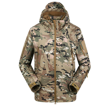 Shark Skin Tactical Jacket Softshell Men Waterproof Coat Camouflage Hooded