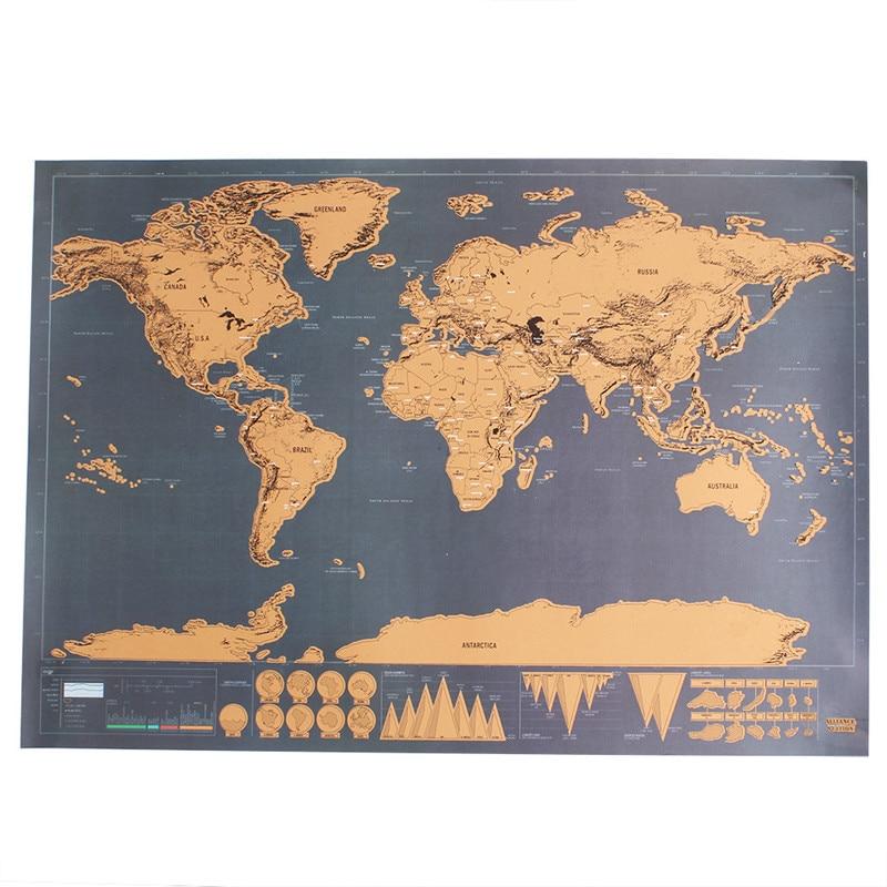Silməli Səyahət Xəritə Divar Dekoru Etiket Dünya xəritəsi - Ev dekoru - Fotoqrafiya 1