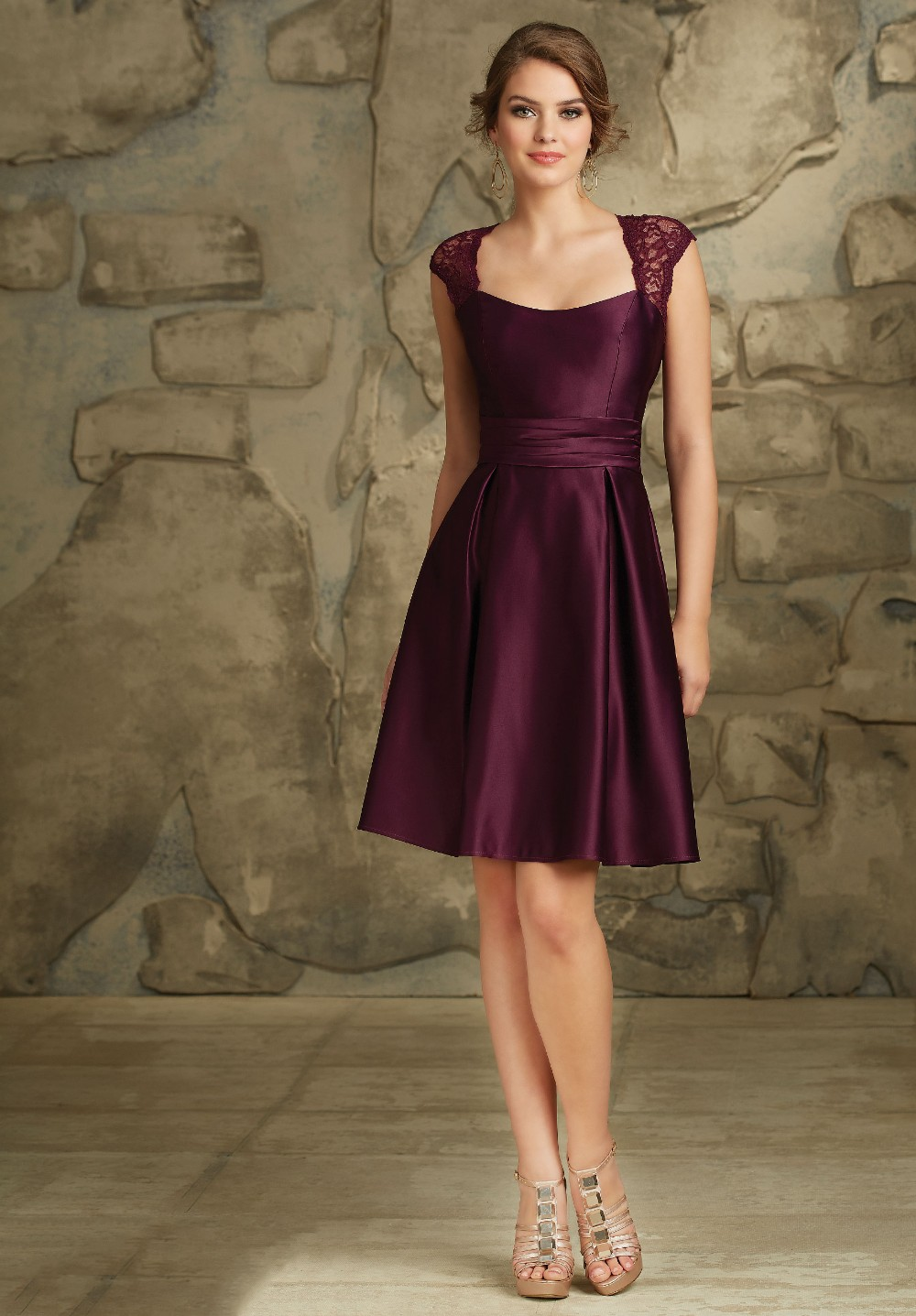 Online get cheap plum bridesmaid dresses for Dress for a wedding party