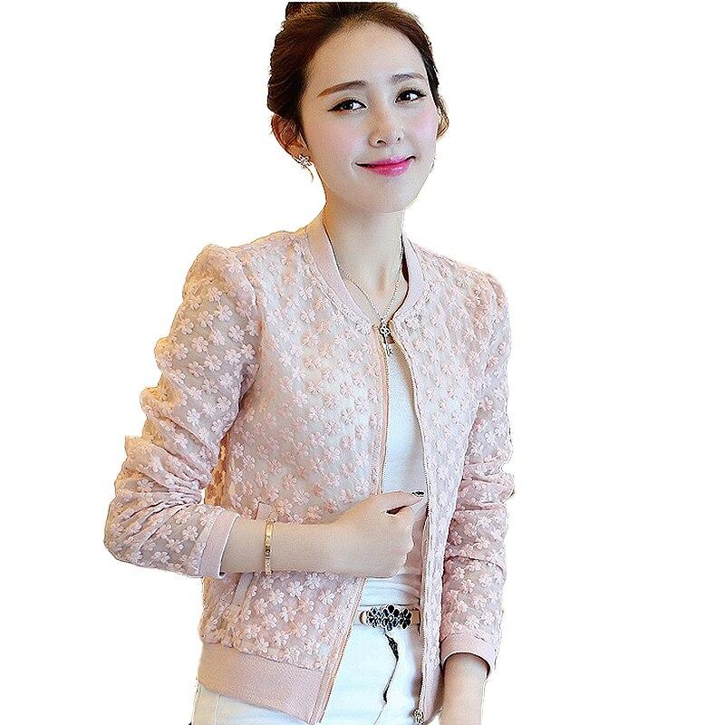 ... primavera de 2019 verano nueva marca completa de abrigo de encaje  prendas casuales de ocio chaqueta de alta calidad chaquetas mujer en  Chaquetas básicas ... fcd4e396ce3f2