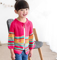 2016 otoño ropa de los niños impreso de manga larga tejer baby girls cardigan suéteres para niñas niños causal suéter prendas de vestir exteriores