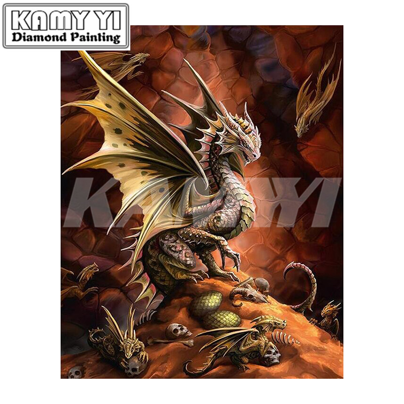5D Diy Diamond Painting Cross Stitch Cartoon Dragons Diamond Embroidery Full Mosaic Kits Handmade Craft Decor-hcr3
