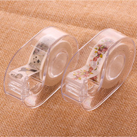 2018 new and paper tape shears transparent plastic tape seat cutting tape school office supplies stationery free shipping Tape Dispenser