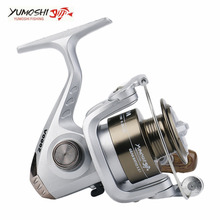 Yumoshi Small Type Fishing Reel Wheel Stem Wheel Metal Aluminum alloy High Speed Ratio 5.5:1 Fishing Reels Hot Sale