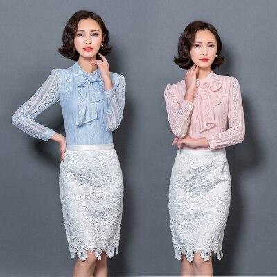 Blusas de Las Mujeres Del Otoño Del Resorte de Moda Elegante de La Vendimia de