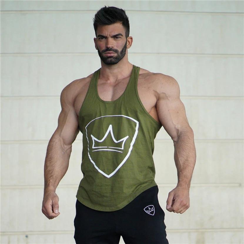 Gym Men Tank Tops Bodybuilding Vest Workout Undershirt Sleeveless T Shirt Vest