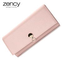 100 Soft Cowhide Natural Leather Women Wallets 4 Colors Fashion Casual Solid Girls Purses Multi Pockets