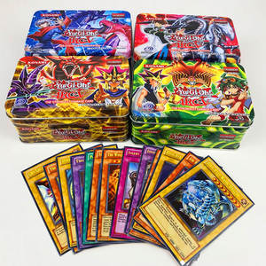 Yu Gi Flash-Card Collection-Cards Game Yugioh Carton Metal Toys Classic with And Tin-Box