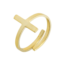 GORGEOUS TALE 10Pcs Adjustable Cross Rings Gold Silver Rose Gold Color Stainless Steel Jewelry For Women Wedding knuckle Ring