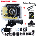 ExtraHead strap +Monopod+camera bag Action Cam Camcorder HD 1080P 2.0 inch  WIFI 170 degree Lens 30M waterproof Sport Camera
