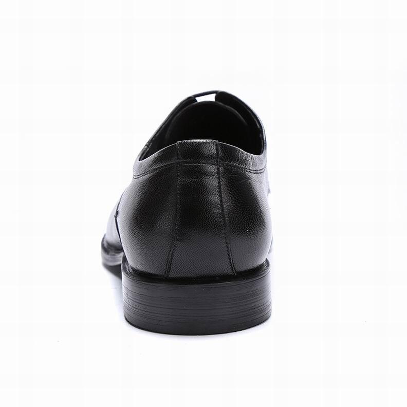 Para Estilo Negocios Nuevo Genuino Negro marrón Punta Hombre Británico 5 Cuero Puntiaguda Diseño Eioupi Vestido Moda Completo Hombres Zapatos Grano De E7603 Eznq7fpw