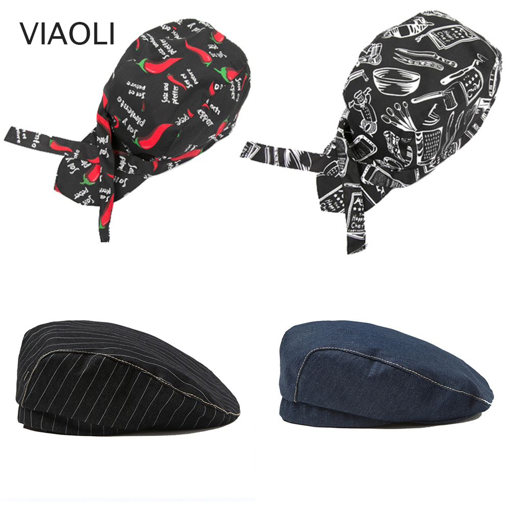 17 Colors High Quality Wholesale Pirate Hat Chef Waiter Hat Hotel Restaurant Canteen Bakery Cooking Caps Cooker Workwear Uniform