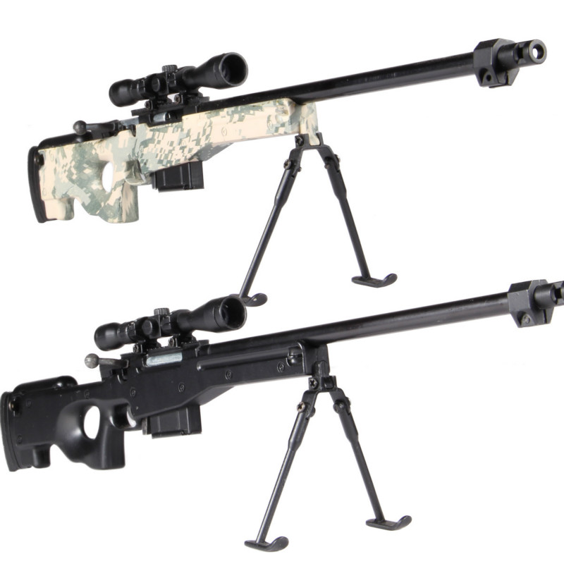 1 3 5 Assemble Metal Toy Gun Model Can Not shoot AWM DIY Mini Gun Model