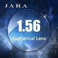 JARA 1.56 Lente Asférica Duro Anti-UV Míopes Lentes Anti-radiação Com Óculos de grau