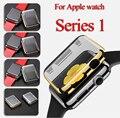 Cubierta de protección de plástico con protector de pantalla de dos en una cubierta para apple watch series 1 awpc