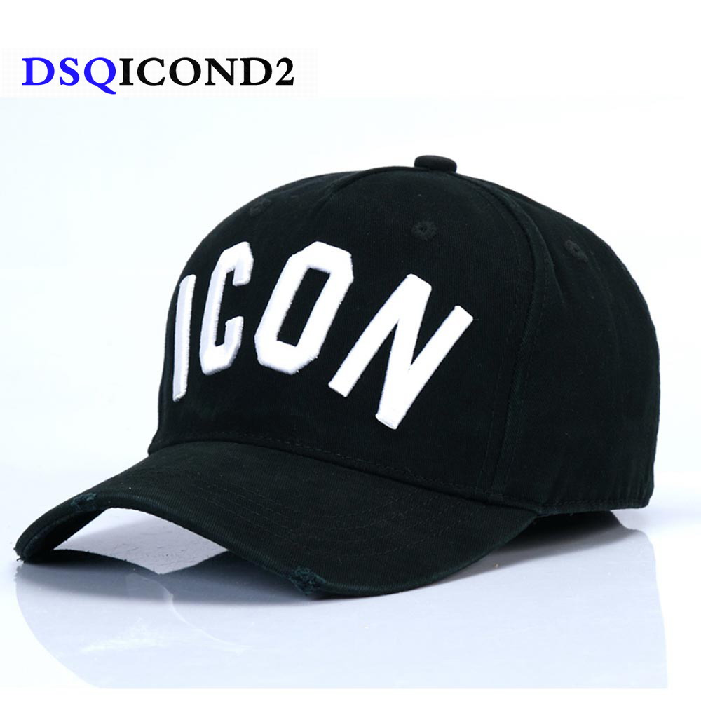 DSQICOND2 Brand DSQ Casquette Hats Solid Pattern Hats Letters ICON Casquette Dad Hip Hop Baseball Cap Snapback Cap for Man Woman(China)