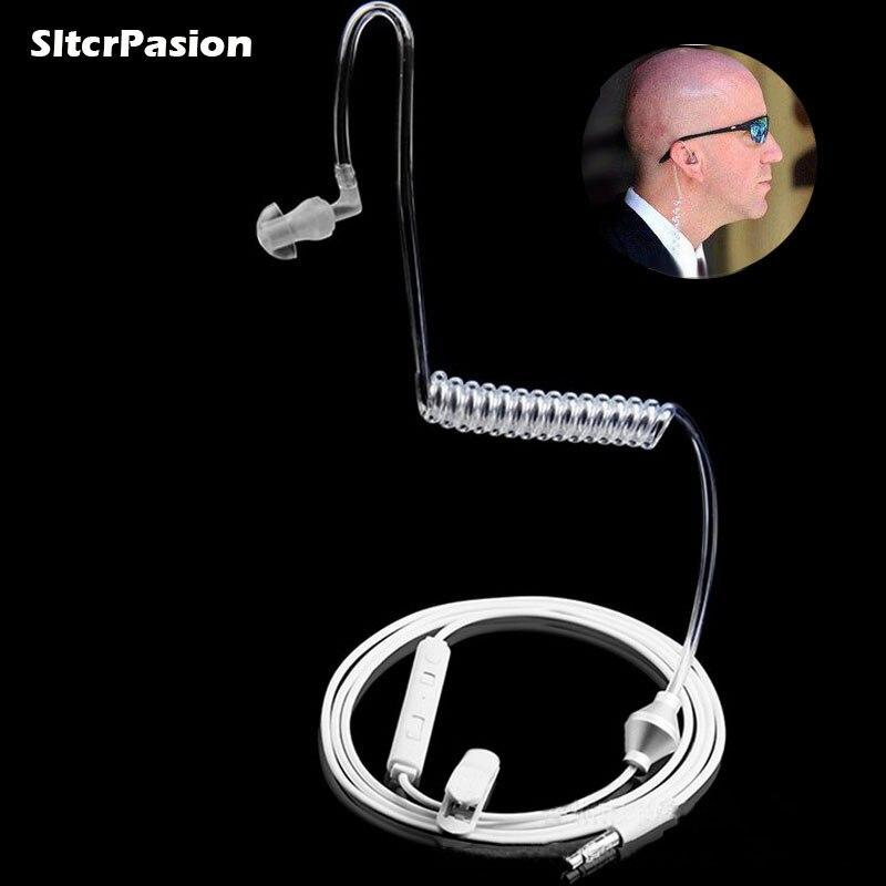 SltcrPasion Universel Doux 3.5mm Air Tube En Ear Mono Élastique Flexible Téléphone Écouteurs Anti Rayonnement Écouteur avec Mic