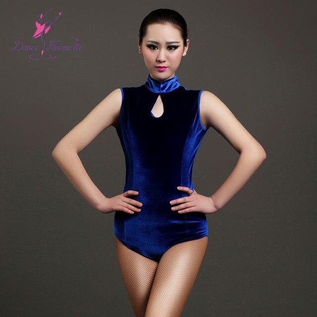 e9e10e2c31e8d8 2016 Top quality adult velvet dance leotard for Ballet Latin dance 3 colors  for choose body wear size S to XXL GB011
