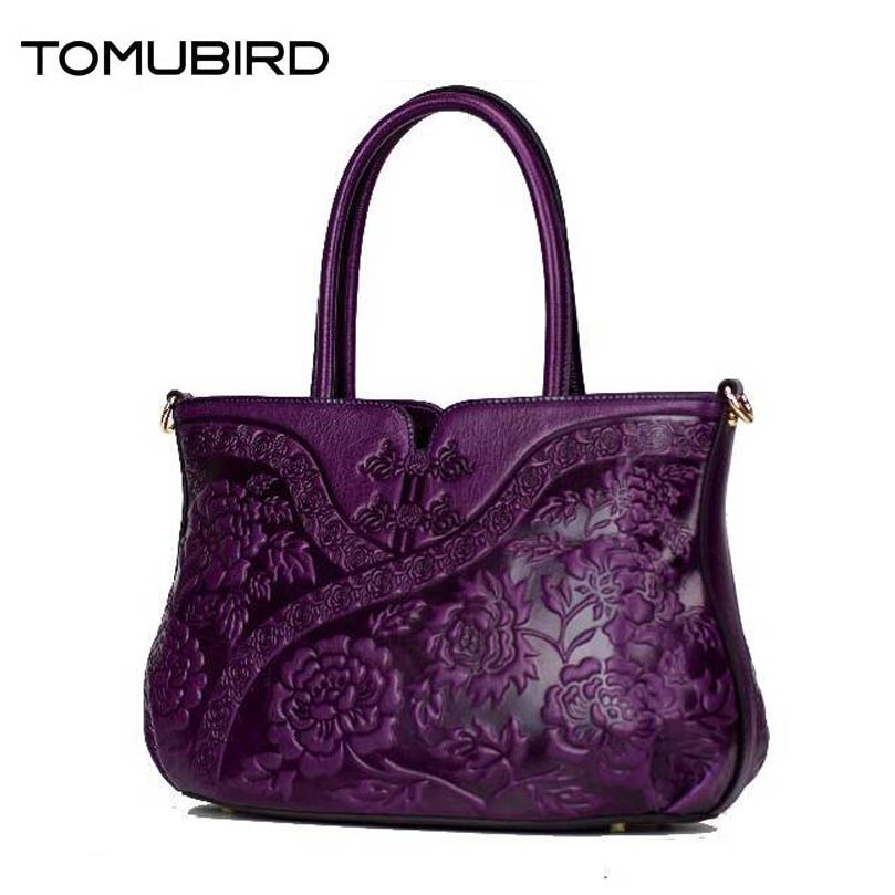 TOMUBIRD women genuine leather bag fashion handbags women bags designer embossed luxury women leather handbags shoulder bag