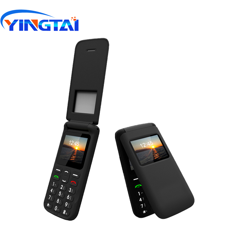 Image 2 - YINGTAI T40 Big push button cheap flip phone for elder Unlocked 1.77 inch wireless FM SOS telephone  Express mobile phone-in Cellphones from Cellphones & Telecommunications