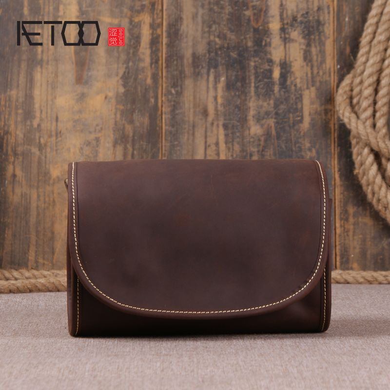 AETOO The new fashion simple ladies shoulder bag head layer of leather leisure Messenger bag hand small package smc the new head of passing filter aff150a 40