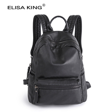 genuine leather women's backpacks sheepskin school bags for teenagers girls 2016 fashion brand designer casual ladies travel bag