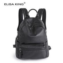genuine leather women's backpacks sheepskin school bags for teenagers girls 2016 fashion brand designer casual ladies travel bag
